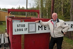 Gunnar Högberg, ordförande i föreningen, hoppas på att många passar på att lämna in skrot som står och skräpar på tomterna i Los.
