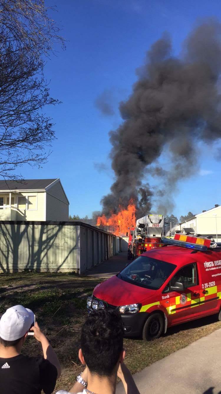 Brand i parhus oppna lagor