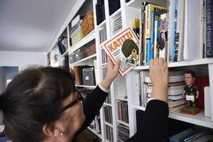 Angelica Ström, Katarina Taikons dotter, har varit delaktig i bearbetningen av Katitziböckernas språk inför nyutgivningen.   a003   Foto: HENRIK MONTGOMERY / TT
