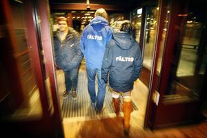 Så här såg det ut på Fältarbetsgruppens sista kväll i december 2011.