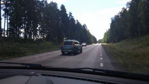 En polisbil på Lugnetleden i Falun.