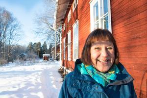 Hilkka Saario älskar sitt hem i Sågen.