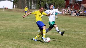 Hemmalagets bästa chans var när David Larsson bröt in från kanten och sköt ett vasst skott vilket tvingade Alsens målvakt Mikael Nilsson till en fin räddning.