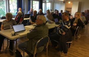 Samlade släktforskare. Foto: Hans-Peter Stülten