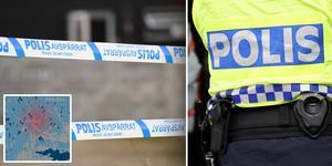 Polisen har hållit förhör med den skadade mannen, men har ännu ingen misstänkt. Foto: Fredrik Sandberg, Maja Suslin