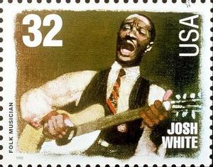 Inför 2008 gavs detta frimärke på Josh White ut i USA. Märket ingick i en serie av legendariska amerikanska musiker. Den 5 september 2019 är det 50 år sedan Josh White avled i en ålder av 54 år. Foto: TT