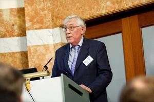 Lennart Bengtsson talade när regeringens kommission för hållbar utveckling presenterade rapporten Ny klimatvetenskap 2006-2009 på Rosenbad i Stockholm. Bild: Christine Olsson / Scanpix