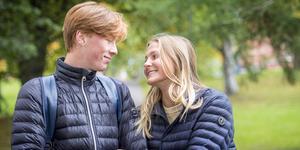 Det strålar kärlek av paret Fabian Wallman och Andrea Levin.