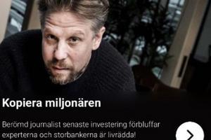 Köpingssonen Filip Hammar och andra kändisar har ovetandes utnyttjats i annonser som den här på Facebook och Internet.