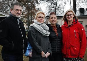 Rolf Lindqvist, kassör, Camilla Dahlberg, Emelie Thuresson, ordförande och Kim Jutterström utgör delar av den nya styrelsen. Ulrika Beijer och Henrik Persson saknas på bilden.