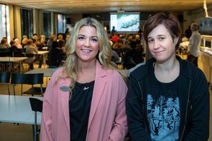 Helena Hermansson och bildläraren Elin Mathisson kommer att hålla i projektet på Maserskolan. Foto: Bengt Pettersson