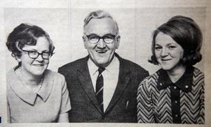 Bild från ÖA 9 november 1968. Sedvill Arnström, här med hustrun Änsi och dottern Annmari, sitter i styrelsen för det nybildade Framstegspartiet.