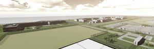 Kommunens detaljplan visar hur det var tänkt att Rörberg skulle bebyggas med datacenter.