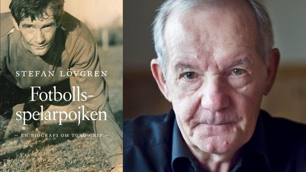 Tord Grip signerar sin bok i Ytterhogdal.