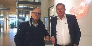 Nikolaos Venizelos och Allan Sirsjö. Arkivbild: Privat
