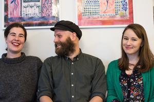 Alma Svensson, Jonathan Petterson och Isabelle Nilsson har startat frigruppen Norrskensteatern.