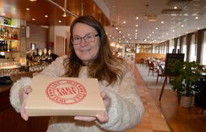 Lena Persson gillar idén med Karma och köpte en matlåda för att ha på jobbet dagen efter.