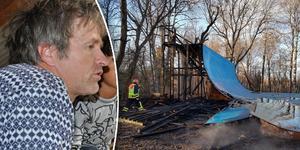 Pelle Evertsson, ordförande för Säters udda sporter, är nedslagen efter att delar av rampen brann ner under måndagskvällen.
