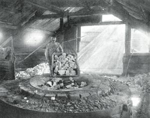 Bild från Strå kalkbruk, ur boken Salaminnen. Den lilla ugnen