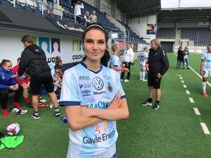 Karin Weinacht, viktig målskytt för Gefle IF.