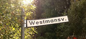 Westmansvägen i Sofiedal.