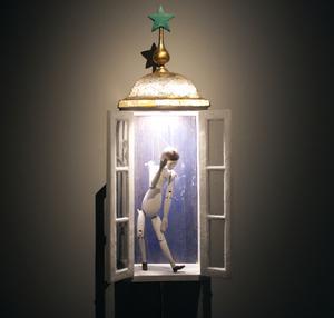 Den allra första dockan som Arne Högsander skapade åt Marionetteatern.