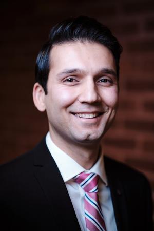 Hamed Abbasi (M), 30 år, Norrtälje. Socialnämnd. Bild: John Guthed.