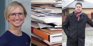 Riksdagsledamöterna Åsa Eriksson (S) och Oscar Sjöstedt (SD) har skrivit sammanlagt 32 motioner under den allmänna motionstiden i riksdagen. Foto: Riksdagen/TT/Lova Jappevik