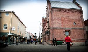 Många av handlarna i centrala Sollefteå tror inte att befolkningsunderlaget är tillräckligt stort för att sprida handeln över flera områden.