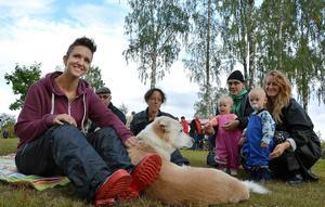 Maria Gustafsson var nöjd med uppslutningen vid picknickmanifestationen.