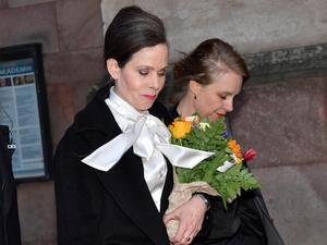 Sara Danius och Sara Stridsberg lämnar Svenska Akademien. Foto: Jonas Ekströmer / TT