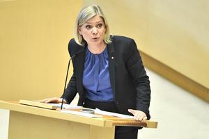 Magdalena Andersson, finansminister. Foto: Claudio Bresciani / TT