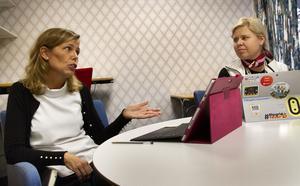 Johanna Örnehag, rektor på skolan, och Karin Ericson, lärare, tillbakavisar kritiken om att skolan inte skulle passa alla elever.