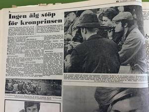 Nix, det blev ingen älg för kronprins Carl Gustaf. Det berättar NA den 2 oktober 1969. Kronprinsen har debuterat som älgjägare i Bergslagsskogarna, och till NA berättar han efteråt att han följt en älgtjur i kikaren, men valt att avstå.