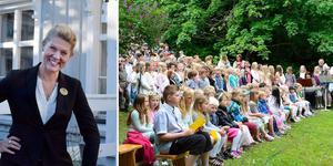 Bara dagar efter den traditionella skolavslutningens sånger tystnat blir det dags för musik i herrgårdsparken igen. Något Maria Åman är glad över.