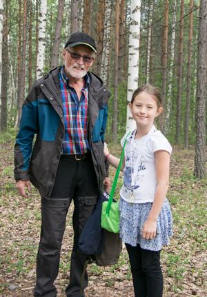 Idag var tredje gången morfar Tor-Björn Tjernlund och Emira Tjernlund besökte riket.