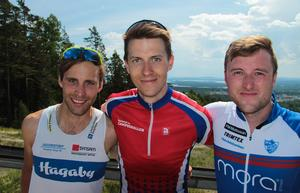 Prispallen i herrarnas medeldistans: Viktor Larsson, Marcus Jansson och Linus Mood.Foto: Privat