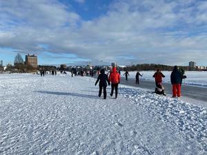 I helgen var jag ute på Mälarisen i det fina vintervädret med min 7-åriga dotter. Men både jag och min dotter blev chockade över hur många människor som struntar i vår miljö.