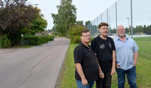 Per Olov Belin, Thord Forsman och Lars Leander har överklagat den nya detaljplanen där deras villatomter ska ingå.