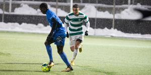 Faustini gjorde debut för a-laget i vintras (bilden). Nu fick han chansen igen och levererade.