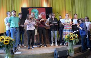 Föreställningen Sång till Välfärden under Riksteaterns pressträff på Södra Teatern. Bild: Maja Suslin / TT