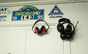 Var sak på sin rätta plats i garageverkstaden hemma på Överbacken i Växbo.