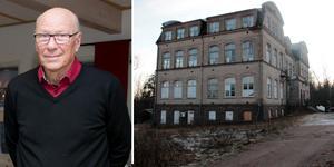 Karl-Åke Lindblad tycker att det är tråkigt att Medora skola, som han äskade, ser risig ut. Foto: Ebba Pettersson/Conny Svensson.