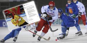 Aleksandr Kim för det ryska landslaget i VM 2009. Foto: Fredrik Sandberg/TT och Skärmdump/Instagram