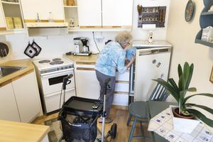 I Nynäshamns kommun finns många äldre personer som just nu kan vara i behov av hjälp med till exempel matinköp. Foto: Gorm Kallestad/TT