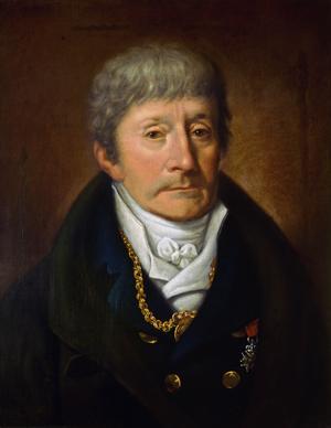 Antonio Salieri. målning av  Joseph Willibrord Mähler från 1815.