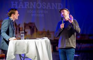 Pär Johansson, skaparen av Glada Hudik-teatern, gästade företagsfrukosten och berättade om skolprojektet och den kommande showen i Härnösand.