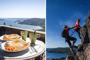 Att vandra eller klättra upp för Skuleberget och sedan äta våfflor i toppstugan är en populär aktivitet - och utmaning - att göra.
