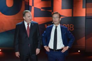 De två mest realistiska statsministerkandidaterna, Stefan Löfven och Ulf Kristersson.