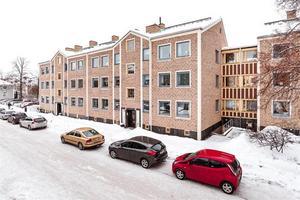 Trea med öppen spis centralt belägen i Falun.Foto: Kristofer Skog Husfoto